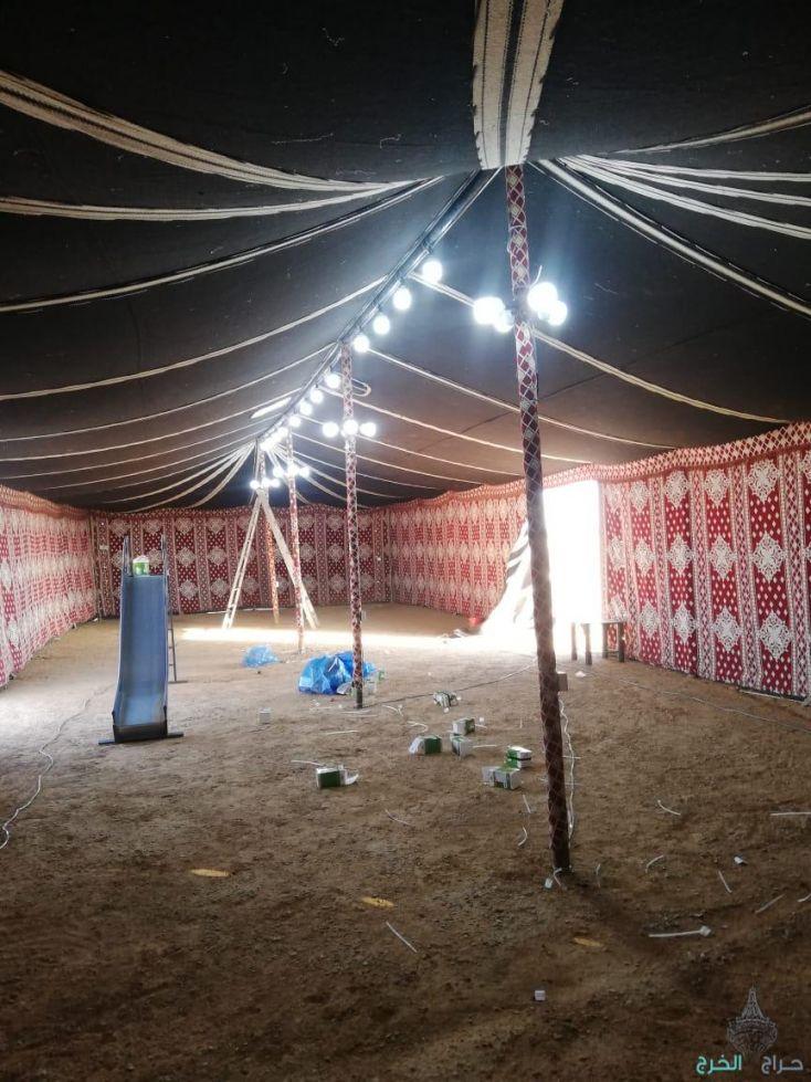 تجهيز مخيمات البر