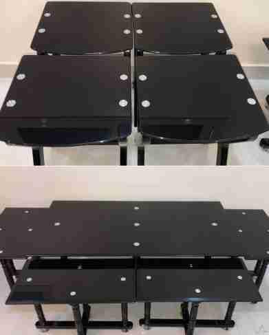 طاولة صالة مع 8 طاولات تقديم معها