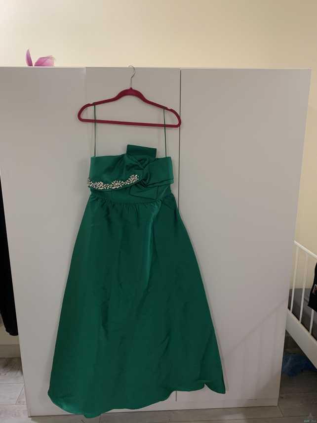 فستان شريته من فيمي ناين لون اخضر مقاس مديم ولارج